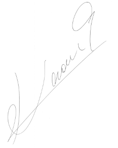 森岡薫 直筆サイン